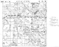 Chicog Township - West, Washburn County 1952